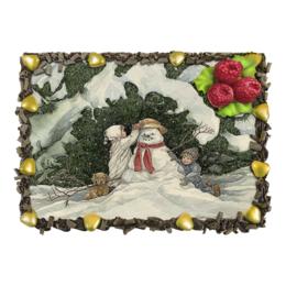 """Торт """"Воспоминания о детстве"""" - новый год, зима, снеговик, snowman"""