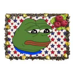 """Торт """"Pepe Frog"""" - мем, грустная лягушка, sad frog, pepe frog, pepe the frog"""