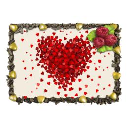 """Торт """"для влюбленных и любящих"""" - любовь, сердца, hearts, влюбленным"""