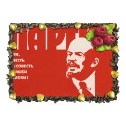 """Торт """"Советский плакат, 1976 г."""" - ссср, ленин, плакат, кпсс"""