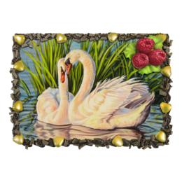 """Торт """"Навсегда"""" - картина, лебеди, верность"""