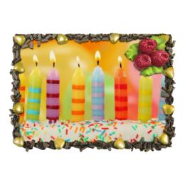"""Торт """"С Днём Рождения"""" - праздник, любовь, день рождения, еда и напитки"""