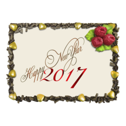 "Торт ""Happy New Year 2017"" - happy new year, новый год, new year, 2017, new year 2017"