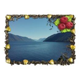 """Торт """"Удивительный Алтай"""" - озеро, горы, лето, горный алтай, телецкое озеро"""