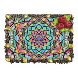 """Торт """"Mandala HD2"""" - узор, ретро, классика, этно, симметрия"""