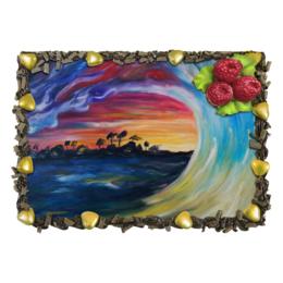 """Торт """"Волна на Гавайях"""" - вкусный торт, красивый торт, закат, море"""