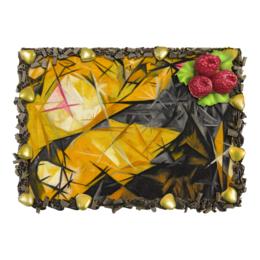 "Торт ""Кошки (Розовое, черное и желтое)"" - картина, гончарова"