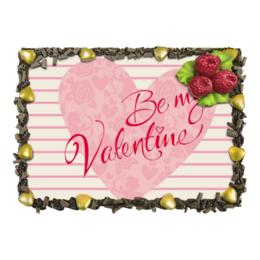 "Торт ""Будь моим Валентином!"" - любовь, день святого валентина, романтика, валентинка, день влюбленных"