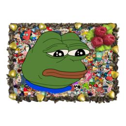 """Торт """"Sad Frog"""" - мем, meme, sad frog, pepe frog, pepe the frog"""