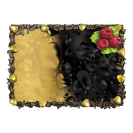"""Торт """"Сердца черно-золотые"""" - сердце, heart, сердца, день валентина, для влюбленных"""
