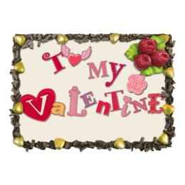 "Торт "" Моему Валентину (To my Valentine)"" - любовь, love, 14 февраля, my valentine"