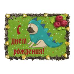 """Торт """"С днем рождения"""" - милый, dog, собака, собачка, cute"""