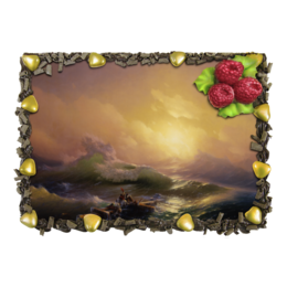 "Торт ""Девятый вал (картина Айвазовского)"" - море, картина, шторм, айвазовский"