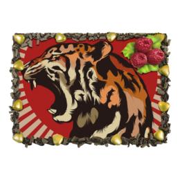 """Торт """"Тигр арт"""" - тигр, дикая природа, арт, звери, tiger"""