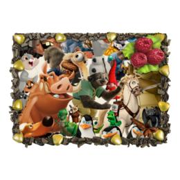 """Торт """"Cartoons"""" - мультяшки, мультфильм, для детей, персонажи, pixar"""