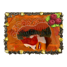 "Торт ""Circus mother"" - арт, рисунок, коллаж, цирк, circus mother"