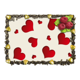 """Торт """"Сердечки"""" - любовь, сердца, сердечки, красные"""
