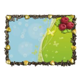 """Торт """"Летний мотив"""" - бабочки, лето, небо, трава, мыльные пузыри"""