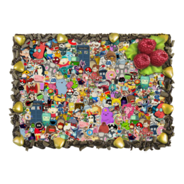 "Торт ""STICKERS"" - арт, дизайн, мульт, фэн-арт, аниме"