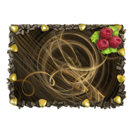 """Торт """"Абстрактный дизайн"""" - графика, абстракция, фигуры, фрактал, лучи"""