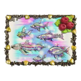 """Торт """"Underwater"""" - подводный мир, рыбы, фэнтези, фантазия, волшебный мир"""