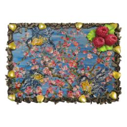 """Торт """"Сакура - розовое дерево"""" - красивый торт, синички, весна"""