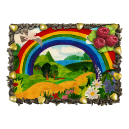 """Торт """"Прекрасный день"""" - дети, детское, ручная работа, детский рисунок, детская работа"""
