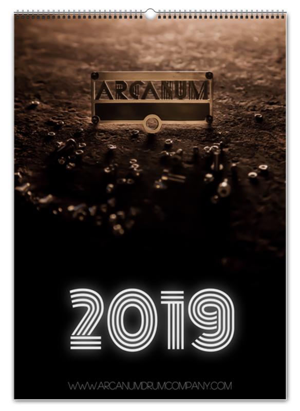 Перекидной Календарь А2 Printio Arcanum drum company 2019