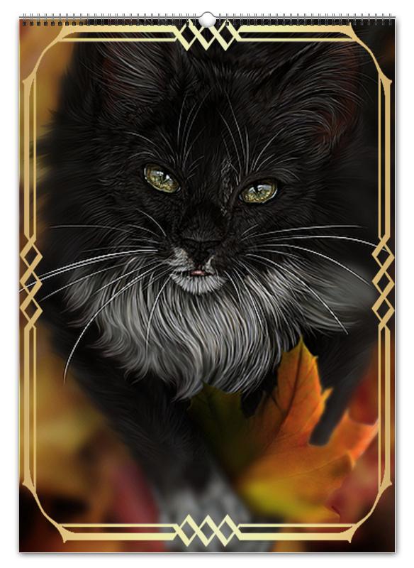 Перекидной Календарь А2 Printio Кошки. магия красоты перекидной календарь а2 printio пришелец ufo
