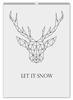 """Перекидной Календарь А2 """"Dear Deer"""" - рисунок, дизайн, олень, минимализм, рога"""