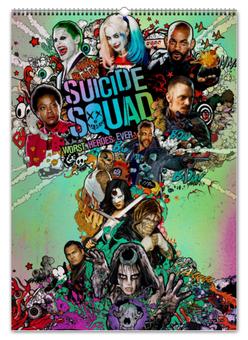 """Перекидной Календарь А2 """"Отряд самоубийц / Suicide Squad"""" - рисунок, кино, комикс, отряд самоубийц"""