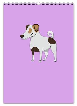 """Перекидной Календарь А2 """"ДЖЕК РАССЕЛ.СОБАКА"""" - майкл джексон, щенок, собака, животное, рассел"""