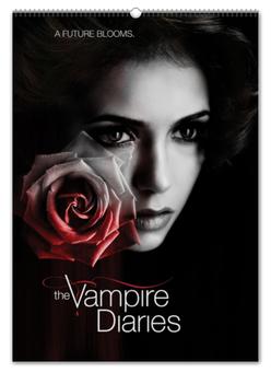 """Перекидной Календарь А2 """"Дневники вампира / The Vampire Diaries"""" - рисунок, кино, сериал, вампиры"""