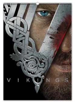 """Перекидной Календарь А2 """"Викинги / Vikings"""" - кино, сериал, рисунок"""