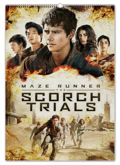 """Перекидной Календарь А2 """"Бегущий в лабиринте / The Maze Runner"""" - кино, рисунок, бегущий в лабиринте"""