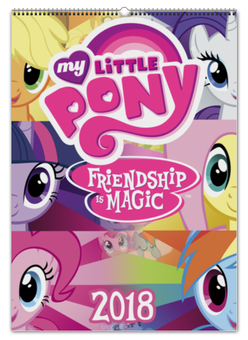 "Перекидной Календарь А2 ""My Little Pony Color Line"" - fluttershy, twilight sparkle, cutiemark, friendship, princess"