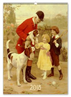 """Перекидной Календарь А2 """"Собаки в живописи Артура Джона Элсли """" - новый год, живопись, картина, артур элсли, календарь собаки"""