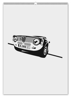 """Перекидной Календарь А2 """"Retro Alfa Romeo Racing"""" - ретро, авто, машина, гонки, alfa romeo"""