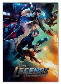 """Перекидной Календарь А2 """"Легенды завтрашнего дня / Legends of Tomorrow"""" - рисунок, кино, сериал, комикс"""