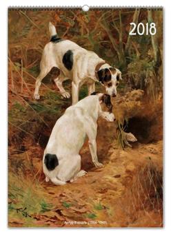 """Перекидной Календарь А2 """"Собаки в живописи Артура Вардля"""" - картина, артур вардль, календарь собаки, новый год, живопись"""