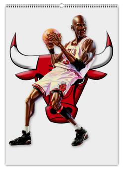 """Перекидной Календарь А2 """"Michael Jordan Cartooney"""" - 23, чикаго, бык, chicago bulls, джордан"""