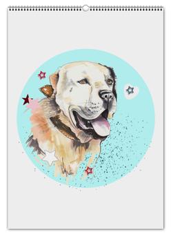 """Перекидной Календарь А2 """"алабай"""" - dog, собака, порода, новыйгод, алабай"""