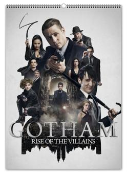 """Перекидной Календарь А2 """"Готэм / Gotham"""" - рисунок, кино, сериал, готэм"""