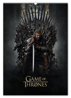 """Перекидной Календарь А2 """"Игра престолов / Game of Thrones"""" - кино, сериал, рисунок"""