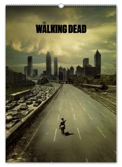 """Перекидной Календарь А2 """"Ходячие мертвецы / The Walking Dead"""" - кино, ужасы, рисунок, сериал"""