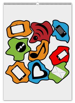 """Перекидной Календарь А2 """"Современные гаджеты"""" - музыка, смартфон, wi-fi, гаджеты, смс"""