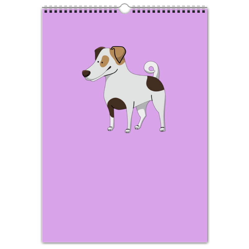 Перекидной Календарь А3 Printio Джек рассел.собака