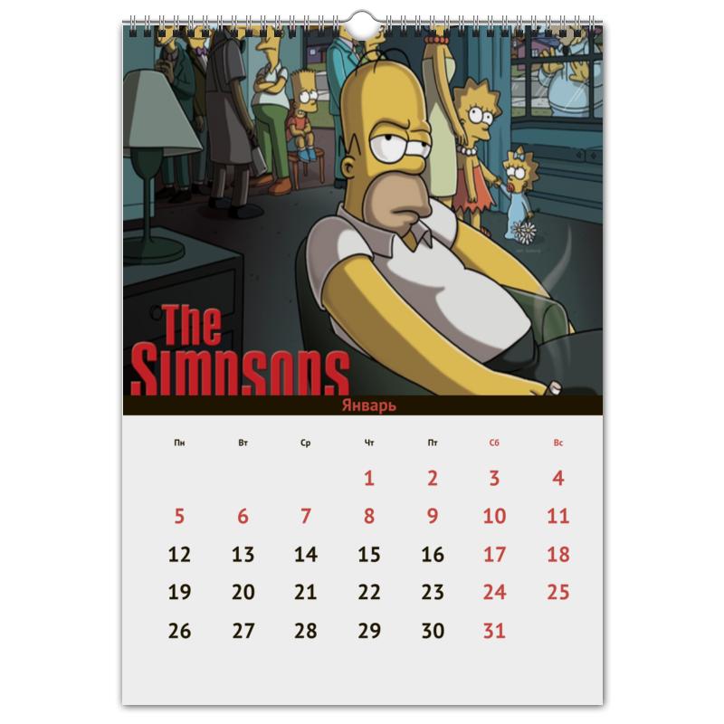Перекидной Календарь А3 Printio The simpsons хочу продать автомобиль ауди а3