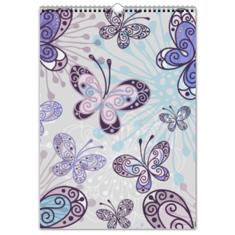 Перекидной Календарь А3 Printio Фиолетовые бабочки
