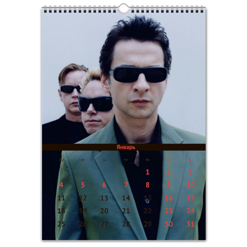 Перекидной Календарь А3 Printio Depeche mode хочу продать автомобиль ауди а3
